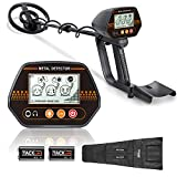 Metal Detector, 3 Modes Adjustable Detectors (24'-45') with Larger Back-lit LCD Display, 3 Audio Tone & DISC Mode - Carrying Bag and Batteries Included, Easy to Operate for Adults and Kids