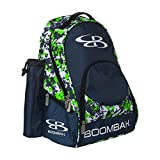 Boombah Tyro Baseball/Softball Bat Backpack - 20' x 15' x 10' - Camo Navy/Lime Green - Holds 2 Bats up to Barrel Size of 2-5/8'