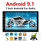 Binize Android 9.1 7 Inch HD Quad-Core 2 Din Car Stereo Radio Multimedia Player NO-DVD GPS Navigation in Dash AutoRadio Bluetooth/USB/WiFi (2G RAM+16G ROM)