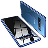 TORRAS Crystal Clear Galaxy S10+ Plus case 6.4 inch, Ultra-Thin Slim Fit Flashy Edge Case Soft TPU Cover for Galaxy S10 Plus, Glossy Blue