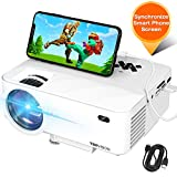 Mini Projector, TOPVISION Projector with Synchronize Smart Phone Screen, Upgrade to 3600L, 1080P Supported, 176' Display, 50,000 Hours Led, Compatible with Fire Stick,HDMI,VGA,USB,TV,Box,Laptop,DVD
