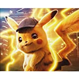 5D DIY Full Drill Diamond Painting Kit, Rhinestone Painting Kits for Adults and Children Embroidery Arts Craft Home Decor Cartoon Anime Series12 x 16 inch (Pikachu 1, 30x40cm)