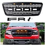 Raptor Style Grill for F150 2004 2005 2006 2007 2008, Front Grille for Ford with F& R Letters, Matte Black