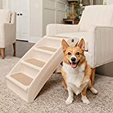 PetSafe CozyUp Folding Pet Steps - Foldable Stairs for Dogs and Cats - Best for Small to Large Pets - Large, Tan