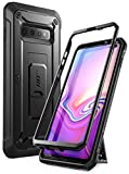 SUPCASE Unicorn Beetle Pro Series Designed for Samsung Galaxy S10 Plus Case (2019 Release) Full-Body Dual Layer Rugged with Holster & Kickstand Without Built-in Screen Protector (Black)