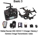 Xiangtat Walkera Runner 250 Drone Racer Modular Design Hd Camera 250 Size Racing Quadcopter Droen with OSD Devo 7 Hd Camera (Basic 3 Version)