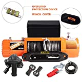 ORCISH 13000lb Waterproof Synthetic Rope Winch -13000Pound Capacity