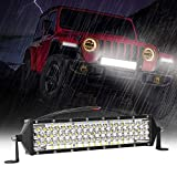 Zmoon LED Light Bar 12 Inch 264w 26400Lm LED Work Light Spot Flood Combo Led Bar Off-Road Lights Driving Lights Led Fog Light for Jeep Lights Boat Lighting