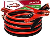 EPAuto 1 Gauge x 25 Ft. 800A Heavy Duty Booster Jumper Cable with Carry Bag And Safety Gloves