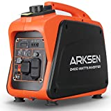 Arksen 1000W Super Quiet Portable Gas-Powered Inverter Generator With 120V AC Outlet, 5V USB Port, 12V CAR DC outlet CARB EPA Compliant