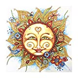 5D Diamond Painting Adult or Child DIY Diamond Embroidery, Special Shape Diamond Painting Sun Flower Pattern Hibah
