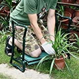 SoB Folding Gardening Seat and Kneeler with Soft Eva Pad Seat with Stool Chair Pouch Home Gardening Supplies Garden Home Kneeler Seat Pad