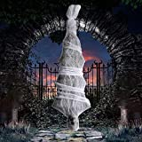 Aobuy 72 Inch Halloween Cocoon Outdoor Decorations,Scary Hanging Cocoon Corpse Props-Perfect for Halloween Outdoor Yard Decoration/Haunted House Decor