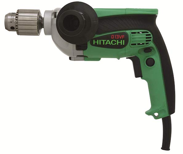 4. Hitachi D13VF 1/2-Inch 9-Amp Drill, EVS Reversible