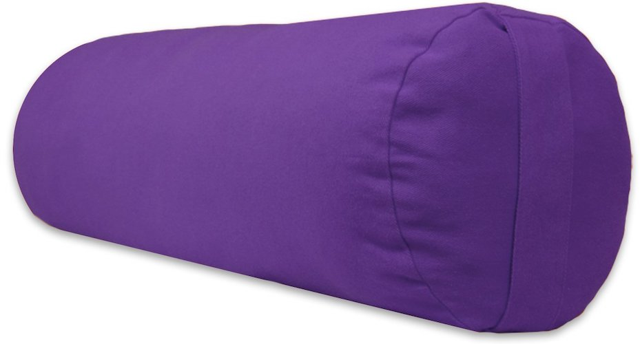 2.YogaAccessories Supportive Round Cotton Yoga Bolster