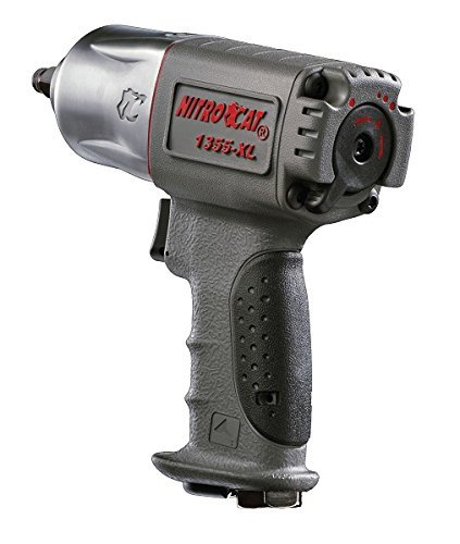 8. NitroCat 1355-XL 3/8-Inch Composite Air Impact Wrench With Twin Hammer Mechanism
