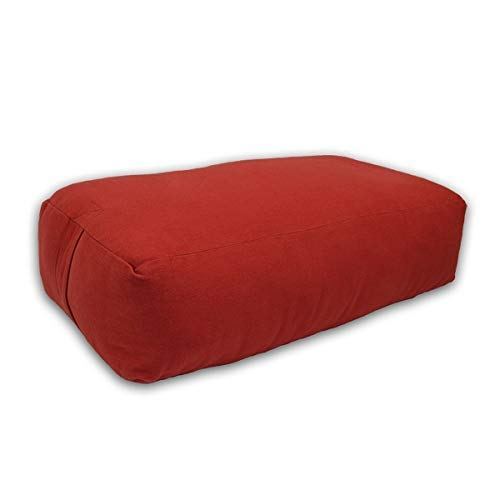 3. YogaDirect Supportive Rectangular Cotton Yoga Bolster