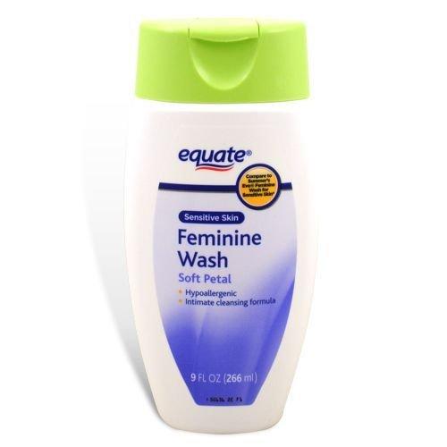 10.Equate - Feminine Wash, Sensitive Skin, Soft Petal, 9 oz (Compare to Summer's Eve)