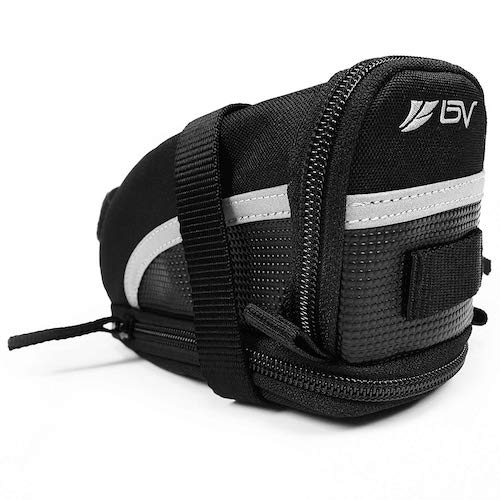 4. BV Bicycle Strap-On Bike Saddle Bag/Seat Bag/Cycling Bag
