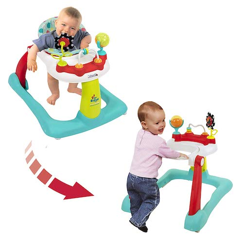 8. Kolcraft Tiny Steps 2-in-1 Activity Toddler and Baby Walker - Seated or Walk-Behind