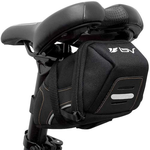 1. BV Bicycle Y-Series Strap-On Bike Saddle Bag/Bicycle Seat Pack Bag, Cycling Wedge Multi-Size Options