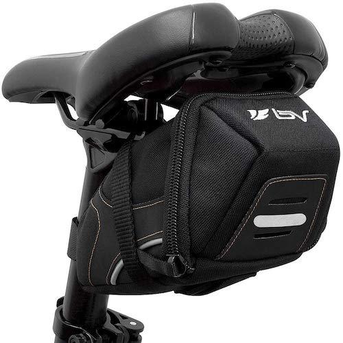 1.BV Bicycle Y-Series Strap-On Bike Saddle Bag/Bicycle Seat Pack Bag, Cycling Wedge Multi-Size Options