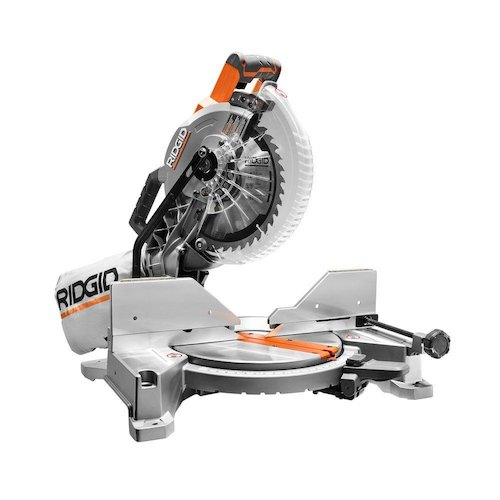 8. RIDGID 15-Amp 10 in. Dual Bevel Miter Saw with Laser