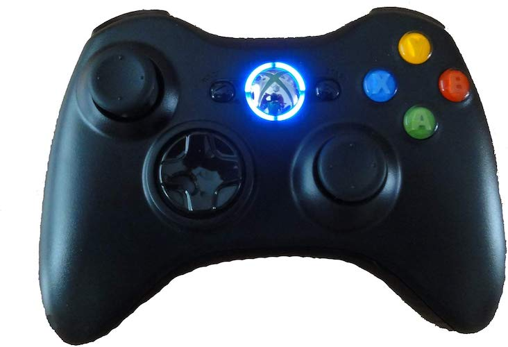 5.Black Xbox 360 Modded Controller (Rapid Fire, Blue LEDs) COD Ghosts, Call of Duty Black Ops 2, MW2, MW3, Halo, GTA..many more by Mike's Mods