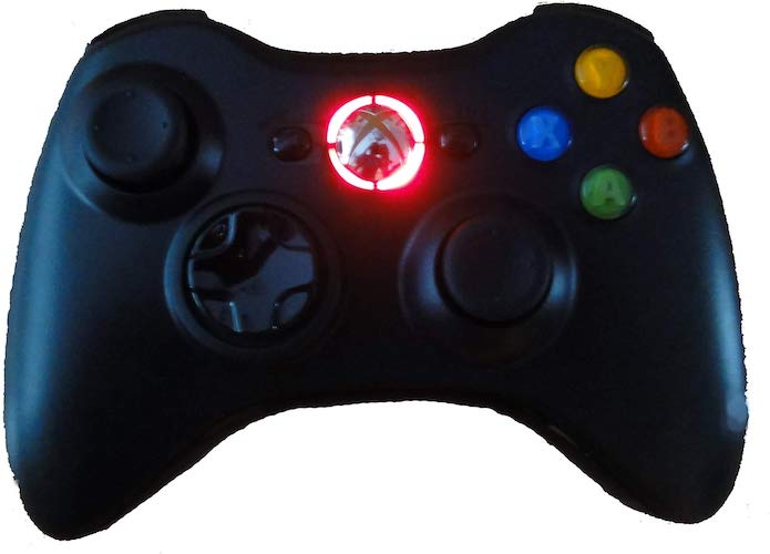 7.Black Xbox 360 Modded Controller (Rapid Fire, Red LEDs) COD Ghosts, Call of Duty Black Ops 2, MW2, Halo, GTA moreby Mike's Mods