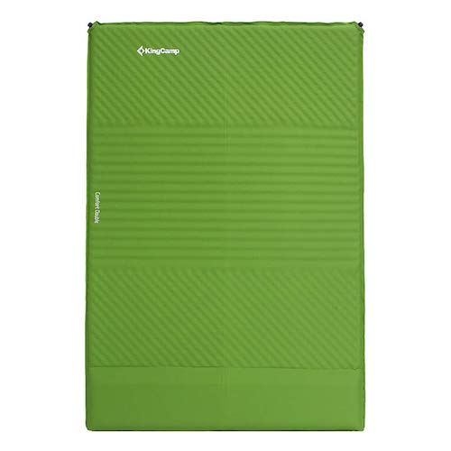 3.KingCamp Sleeping Pad Double/Single Self-Inflating Mat Air Mattress Triple Zone with Built-in Pillow
