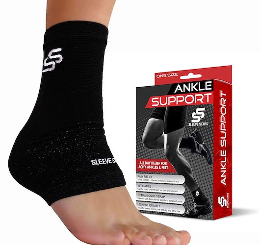 4.Sleeve Stars Ankle Brace for Plantar Fasciitis and Foot Support - Ankle Wrap for Sprain, Achilles, Tendonitis & Heel Pain Relief