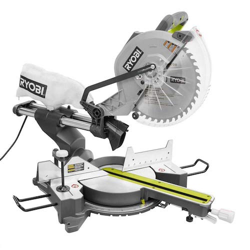 10. Ryobi ZRTSS120L 15 Amp 12 in. Sliding Miter Saw with Laser (Certified Refurbished)