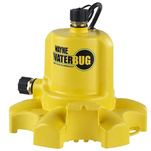 6. WAYNE WWB WaterBUG Submersible Pump with Multi-Flo Technology