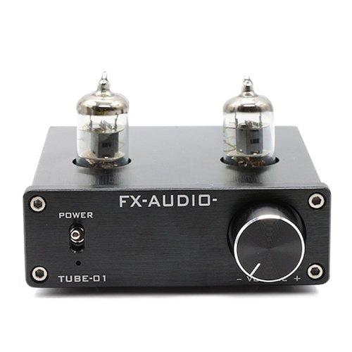 9.FX Audio TUBE-01 6J1 Tube Buffer HIFI Preamplifier (Black)