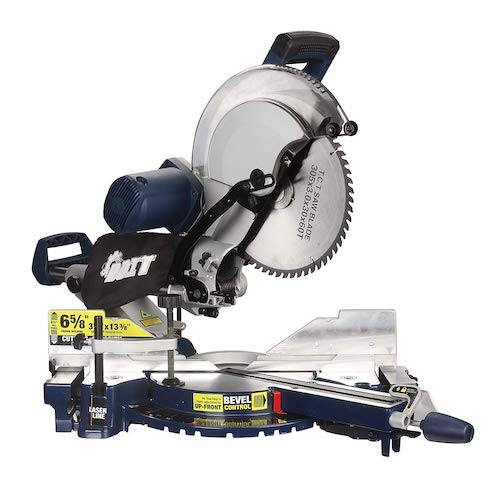 5.DOIT 12-Inch Dual Bevel Sliding Compound Miter Saw with Laser and LED Work Light