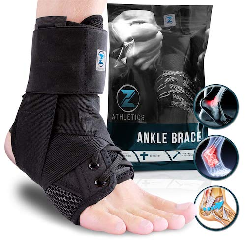 8.Zenith Ankle Brace, Lace Up Adjustable Support – For Running, Basketball, Injury Recovery, Sprain Ankle Wrap