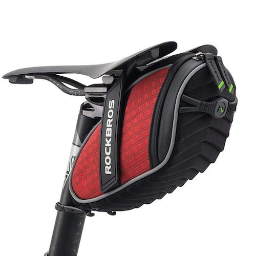 6.RockBros 3D Shell Saddle Bag Cycling Seat Pack for Mountain Road Bike Black