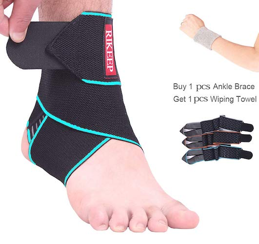 5.Ankle Support, Adjustable Ankle Brace Breathable Nylon Material Super Elastic and Comfortable One Size Fits all, byCandy Li