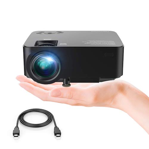 6. DBPOWER T20 LCD Mini Movie Projector, Multimedia Home Theater Video Projector TV Laptop Game iPhone Android Smart-Phone