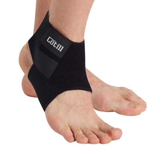 9.Cotill Ankle Support for Men and Women - Neoprene Breathable Adjustable Ankle Brace Sprain for Running, Basketball