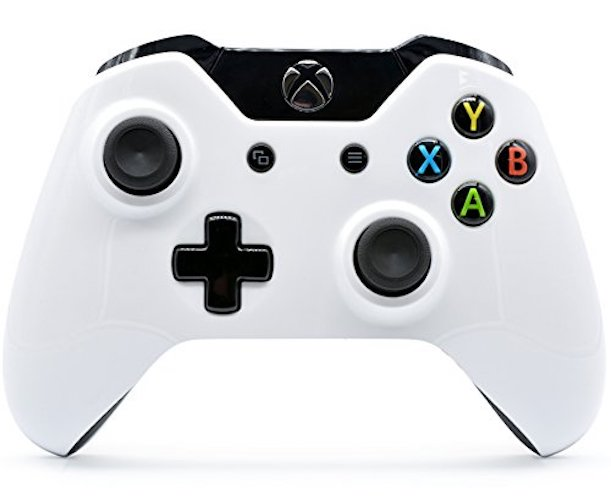 3.Polished White Xbox One Rapid Fire Custom Modded Controller 40 Mods for All Major Shooter Games (3.5 mm Jack)
