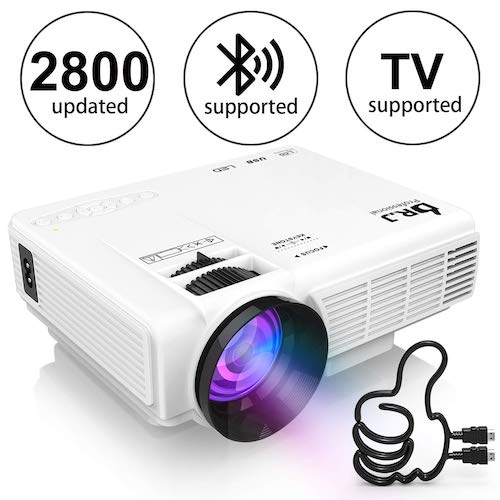 5. DR. J Professional HI-04 1080P Supported 4Inch Mini Projector with 170