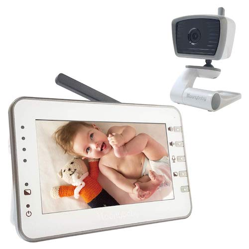 10.MoonyBaby 4.3 Inches Large LCD Video Baby Monitor with Power Saving/Vox (Voice Activation) Auto Night Vision