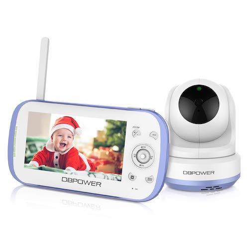 "2.DBPOWER Video Baby Monitor, 270o Pan-Tilt-Zoom/4.3"" Large Screen/VOX/Soothing Lullabies/Temp"