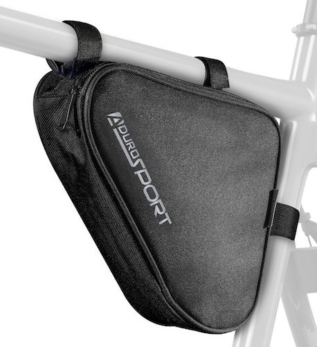 8. Aduro Sport Bicycle Bike Storage Bag Triangle Saddle Frame Pouch for Cycling