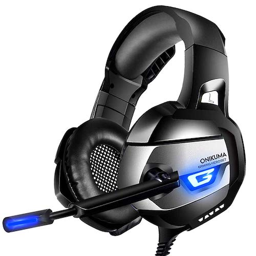 2.ONIKUMA Pro Stereo Gaming Headset for PS4, Xbox One, PC, Zero Ear Pressure, Mute & Volume Control, Durable Frame