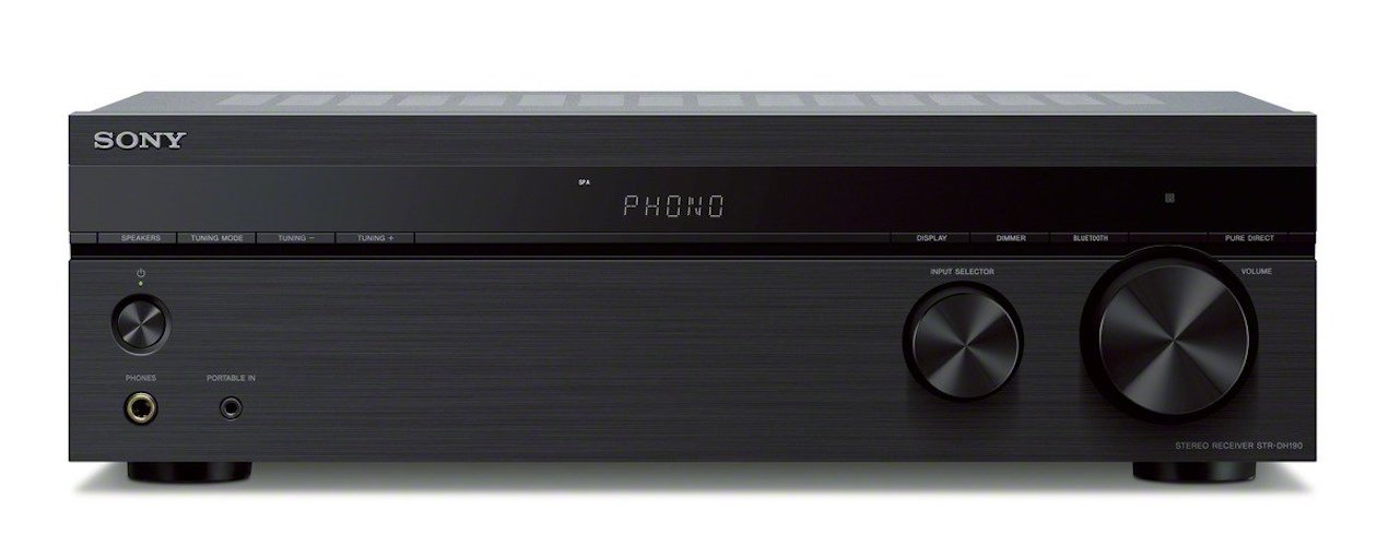 3. Sony STRDH190 2-ch Stereo Receiver with Phono Inputs & Bluetooth