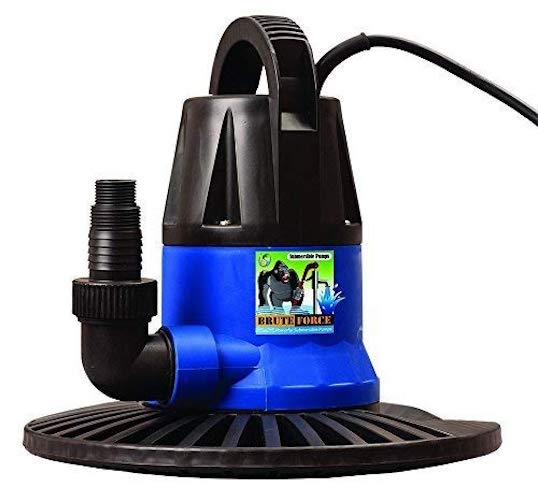 5. Brute Force 2450 GPH Submersible Pool Cover Pump