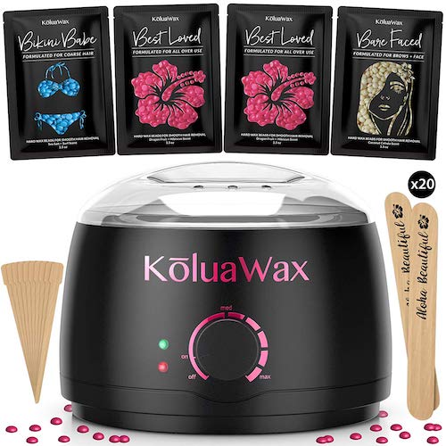 2. Wax Warmer, KoluaWax Painless Hair Removal Waxing Kit with Hard Wax Beans. Multiple Formulas by KoluaWax