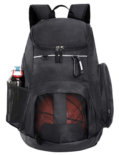 1. MIER Large Sports Backpack w/Pocket for Swim, Outdoor, Gym, Basketball, 40L